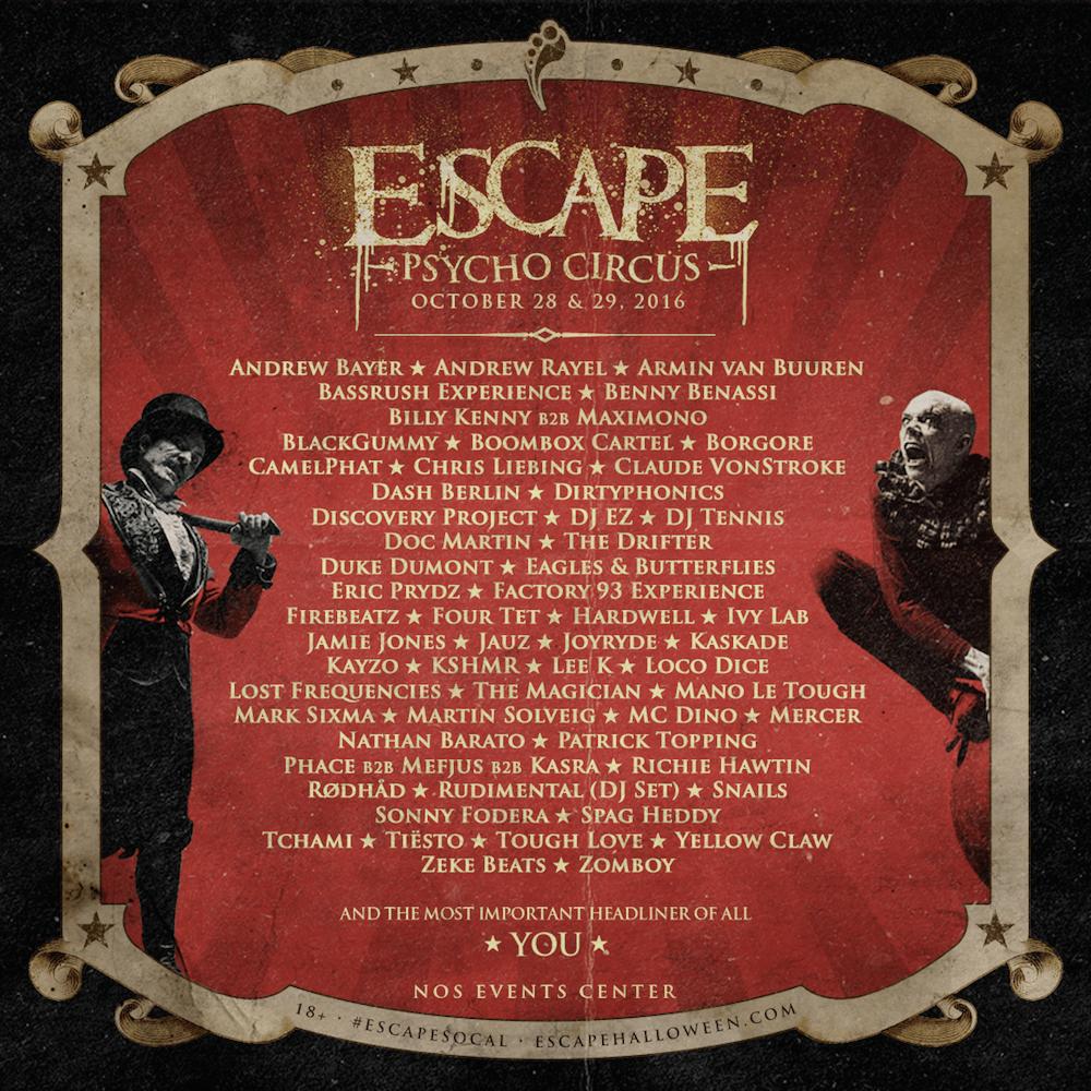 Escape_Full Lineup Announce_9.6.16