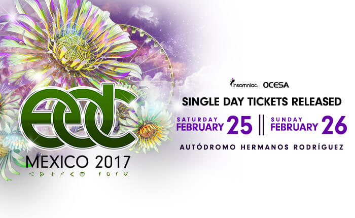 EDC Mexico Lineup by Day and Single-Day Tickets Now Available