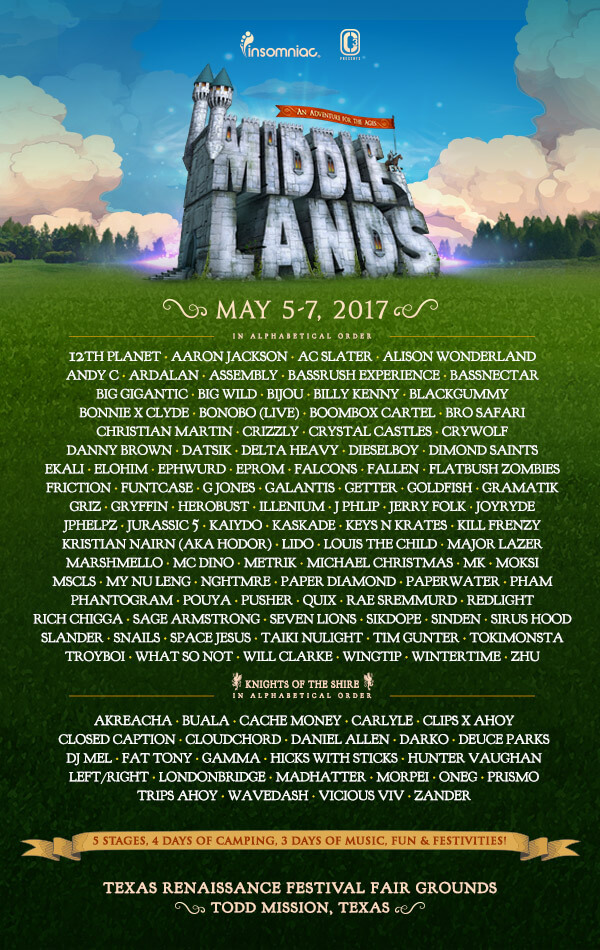 lineup middlelands 2017