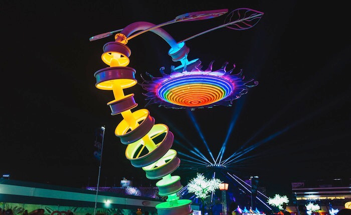 A Look Back At Some of The Art of EDC Las Vegas: Helianthus Enorme