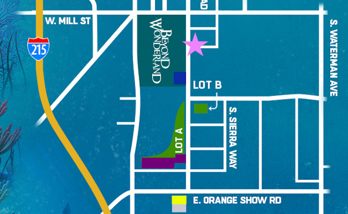 Parking Map and Information for Beyond Wonderland SoCal