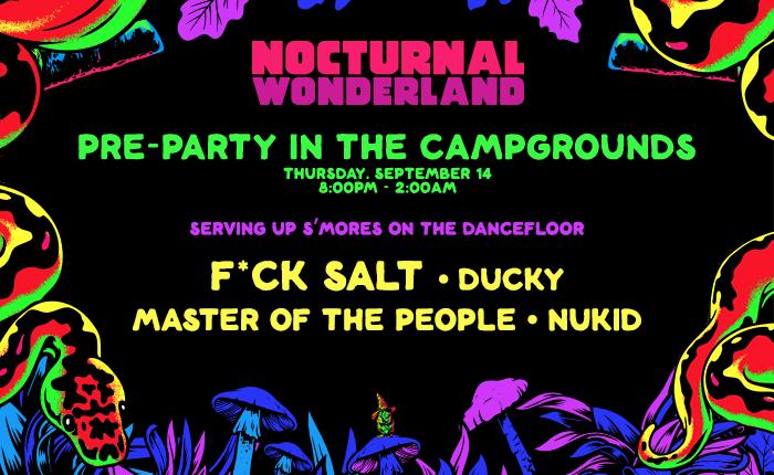 Nocturnal Wonderland camping