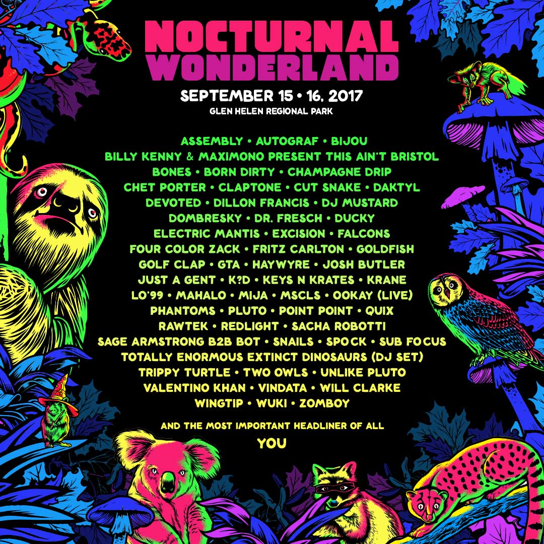 Nocturnal Wonderland lineup