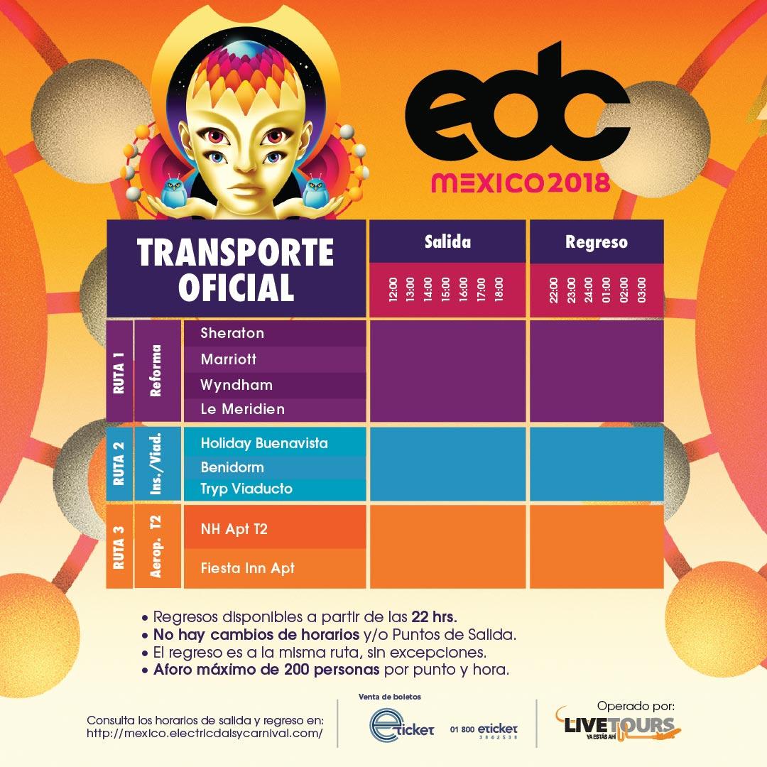 EDC Mexico 2018 Transporte Oficial