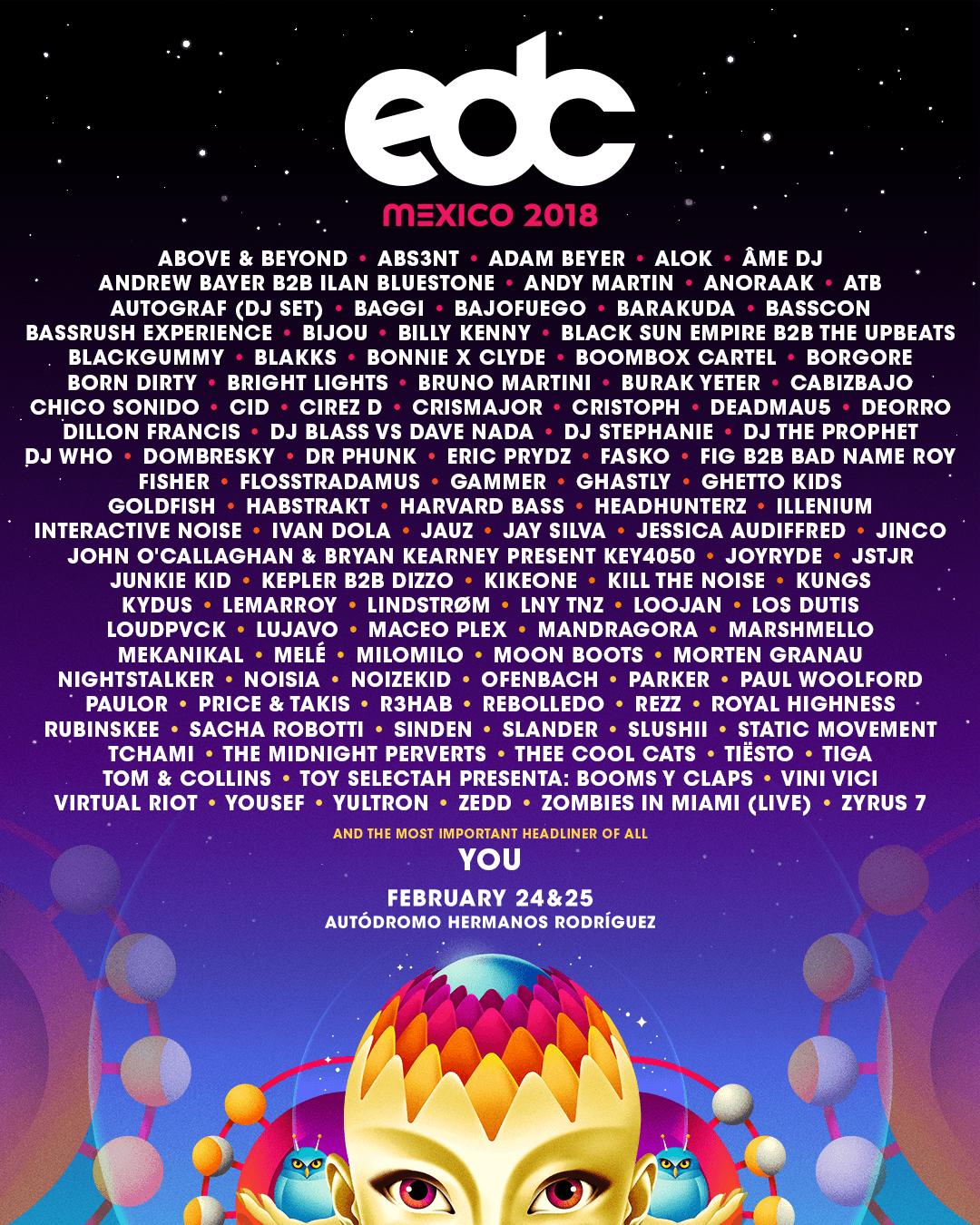 Lineup Edc Mexico 2018