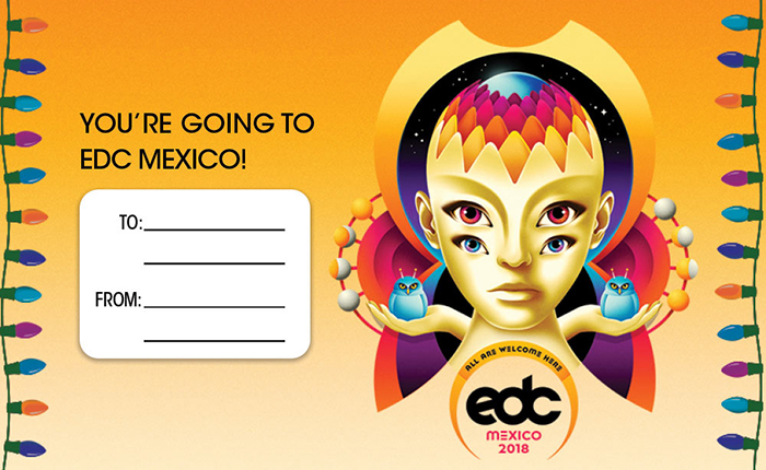 Spread the Festival Feels With This EDC Mexico Gift Tag for the Headliner on Your Holiday List