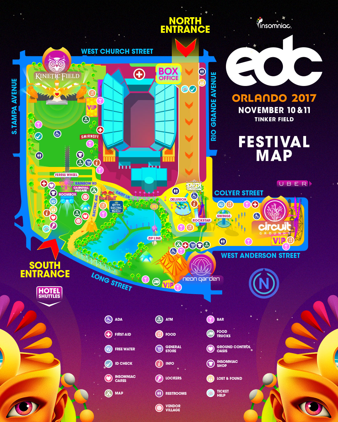 Site Map 2018: EDC Orlando 2017