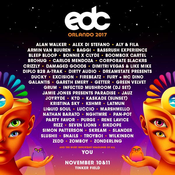 EDC Orlando lineup
