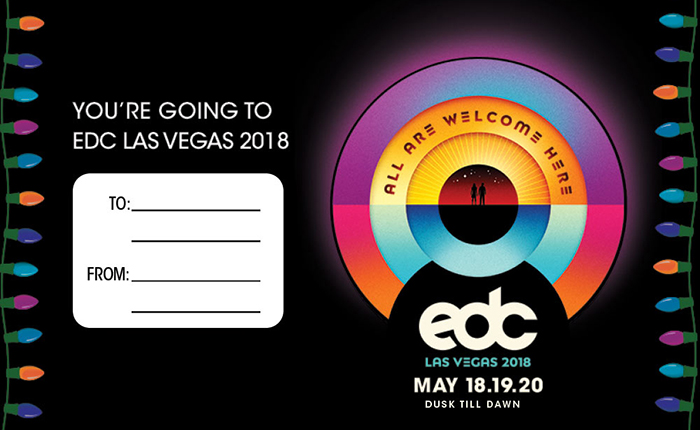 Spread the Festival Feels With This EDC Las Vegas Gift Tag for the Headliner on Your Holiday List